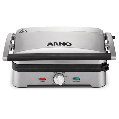 Foto 1 - Grill Elétrico Destacável Premium Arno com Capacidade para 04 Hambúrgueres - GPRE