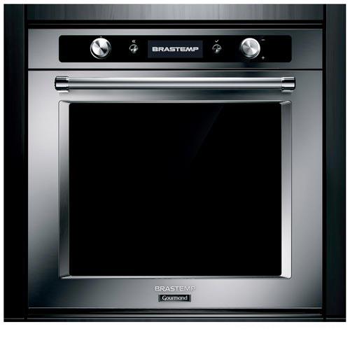 Foto 1 - Forno Elétrico de Embutir Brastemp Gourmand com 73 Litros de Capacidade, Grill Inox -  BOC60BR