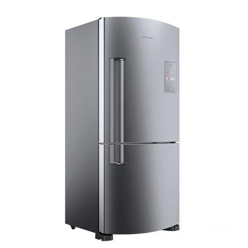 Foto 1 - Refrigerador Inverse de 02 Portas Frost Free Brastemp com 573 Litros Platinum - BRE80A