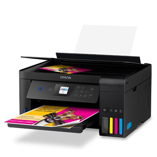 Foto 1 - Impressora Multifuncional Epson EcoTank Jato de Tinta com USB, Wi-Fi e Wi-Fi Direct - L4160