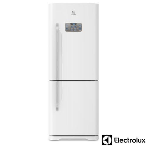 Foto 1 - Refrigerador Bottom Freezer Electrolux de 02 Portas Frost Free com 454 Litros Painel Blue Touch Branco - DB53