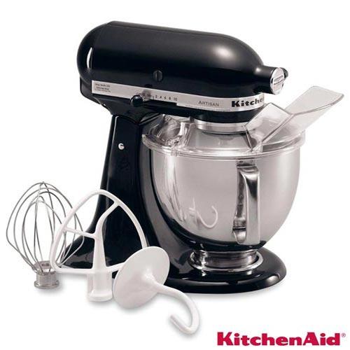 Foto 1 - Batedeira Planetária Artesian KitchenAid Stand Mixer com 03 Batedores Onix Black