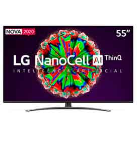 "Smart TV NanoCell 4K LG LED 55"" com Controle Smart Magic e Wi-Fi - 55NANO81SNA"