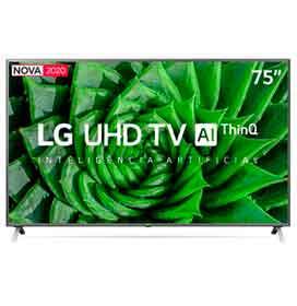 Smart TV 4K LG LED 75 Google Assistente Alexa, Smart Magic e Wi-Fi - 75UN8000PSB