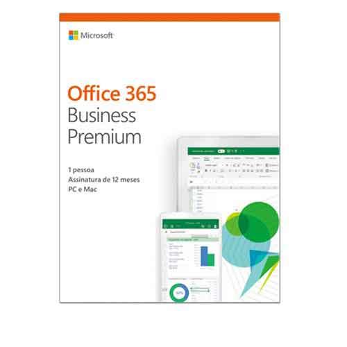 Foto 1 - Microsoft Office 365 Business Premium com 01 ano de Assinatura para PC e Mac