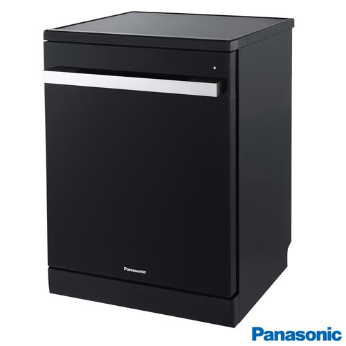 Foto 1 - Lava-Louças Panasonic Preta com 15 Serviços, 08 Programas de Lavagem e Painel Digital Easy Touch - NP-6M1MBKBRP