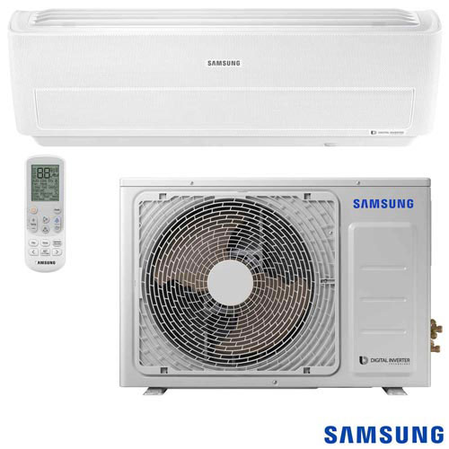 Foto 1 - Ar Condicionado Split Digital Inverter Wind Free Samsung, 18.000 BTUs, Quente e Frio, Branco - AR18NSPXBWK