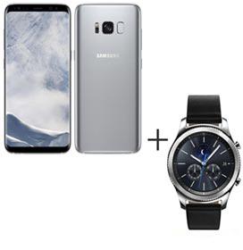 Samsung Galaxy S8 Prata, Tela de 5,8, 4G, 64GB e 12MP - SM-G950 + Gear S3...