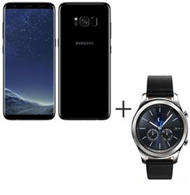 Samsung Galaxy S8 Preto, Tela de 5,8, 4G, 64GB e 12MP - SM-G950 + Gear S3...