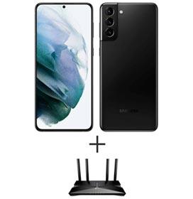 "Samsung Galaxy S21+ Preto, 6,7"", 5G, 128GB - SM-G996BZKJZTO + Roteador Ax1500 Wi-fi 6 Archer AX10  TP - Link"