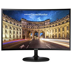 "Monitor Curved 24"" Samsung Full HD com 3000:1 de Contraste - LC24F390FHLXZD"