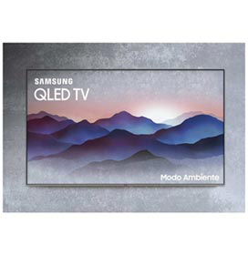 """Smart TV 4K Samsung QLED 2018 UHD 49"""" com Modo Ambiente, Tela de Pontos..."""