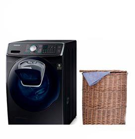 Lava & Seca 16 Kg Samsung AddWash Eco Bubble Preta com 12 Programas de Lavagem - WD16N8750KV/AZ